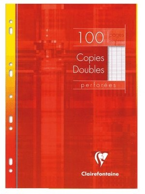 Feuilles Doubles 100pages/Grand Format 21*29.7/Grands Carreaux/90g