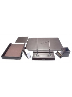 KIT DE BUREAU DE LUXE MARRON