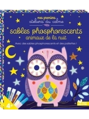 Sables phosphorescents animaux de la nuit