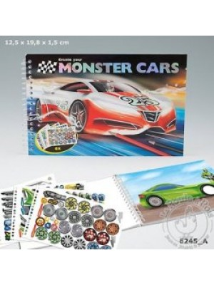 Album de création Monster Cars poche