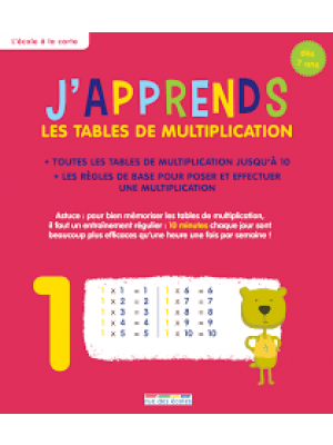 J'apprends les tables de multiplication -L'école à la carte