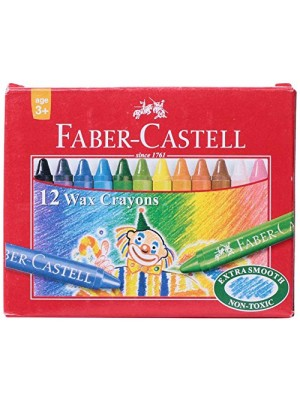 12 Crayons cire couleurs PM
