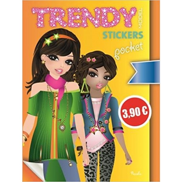 Trendy model stickers pocket Jaune