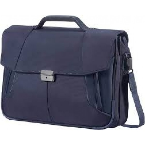 Cartable briefcase 2 poches bleu marine Samsonite 08N*01009